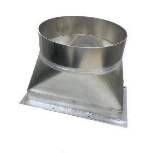 金属加工製品:アルミ角丸ダクト/A5052